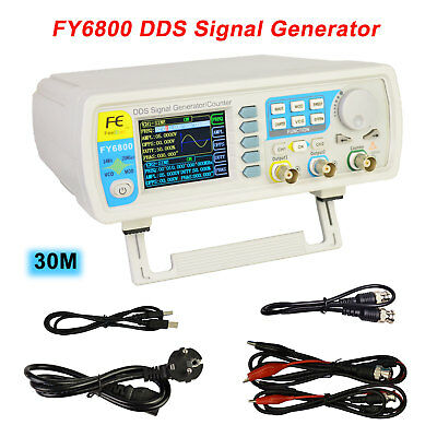 FY6800-30MHz Dual-Channel DDS Arbitrary Waveform Signal Generator 0.01-100MHz DE