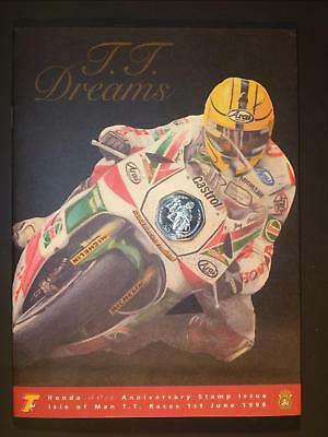 "ISLE OF MAN - 1998 ""T.T. DREAMS"" HONDA 50th ANNIV. PACK WITH 50p COIN INSET"
