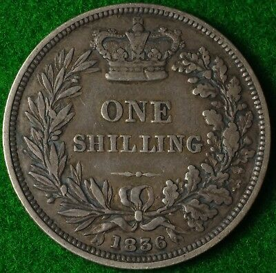 1836 William IV Shilling in Very nice collectable condition  FREE UK POSTAGE