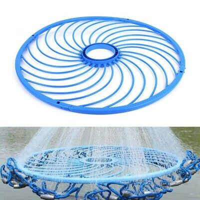High Quality Blue Cast Net Fishing Hand Throw Net Dedicated Frisbee Accessory
