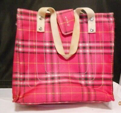 86a88fe74 NWOT KOKO Hot Pink/Black Plaid Lunch Bag - Insulated