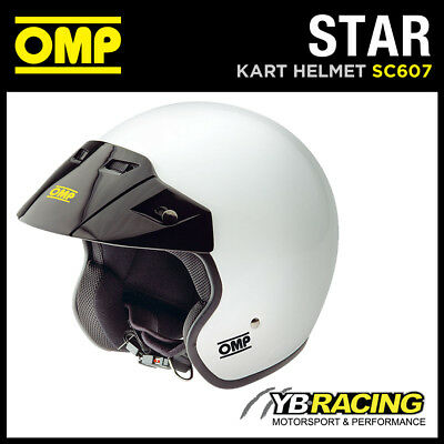 Sale! Sc607 Omp Star Helmet Open Face Karting / Track Day / Rally / Sizes S-Xl