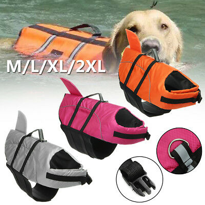 Dog Swimming Life Jacket Buoyancy Aid Float Safety Vest Adjustable Water Pet Cat
