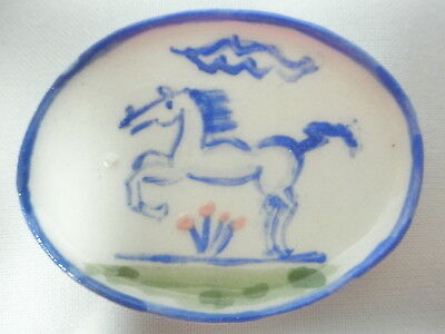 Dollhouse Miniature ceramic dish - Country style Stallion
