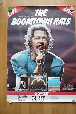 Original Konzertplakat The Boomtown Rats Live 3. Februar 1980 Berlin