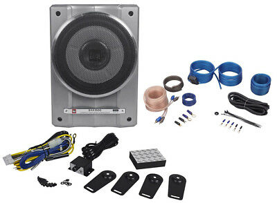 "Dual BAK1500 10"" 1500W Active/Powered Under Seat Car Subwoofer Sub + Wire Kit"