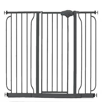 Regalo 51 Inch Easy Step Extra Wide Walk Thru Baby and Pet Safety Gate, Black