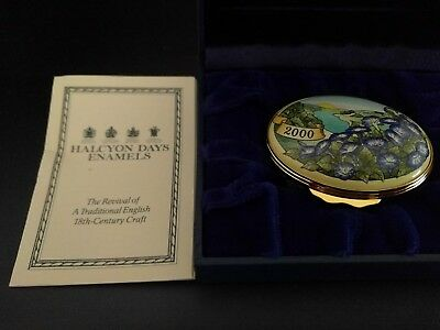 """Halcyon Days Enamels """"2000 The Year to Remember"""" Rare Trinket Box"""