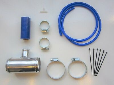 "Dump Valve Fitting Kit 50mm Alloy T-Piece for 25mm BOV - BLUE Silicone 2"" Inch"