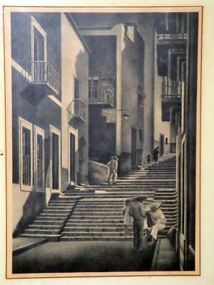 Alan Crane Listed Artist Old Mexican Small Ed Litho Guanajuato St Mexico