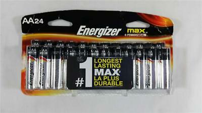 NEW AA Energizer MAX + Powerseal 24 Pack Alkaline Batteries