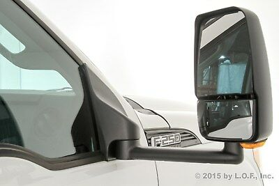 """F250 F350 Towing Pick Up Passenger Power Chrome Signal Heat Side 102/"""" Wid Mirror"""