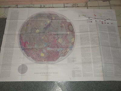 NASA Geological Map of the Near Side of the Moon 1971 I-703