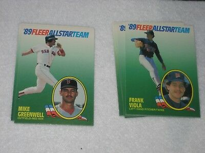 1989 Fleer Baseball Complete Set660 W 89 Fleer All Star