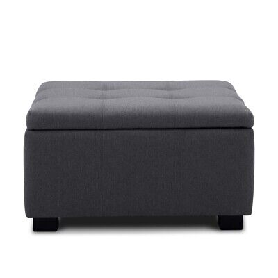 Storage Ottoman Tufted Upholstered Foot Bench Living Room Bedroom