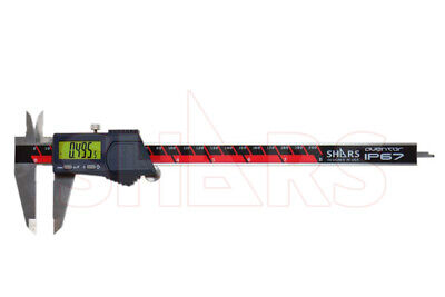 "SHARS Aventor 8"" /200mm DPS IP67 Electronic Digital Caliper DIN862 .0005"" NEW"