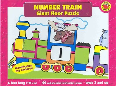 Number Train: Giant Floor Puzzle - NEW Box - 6 ft long, 20 self-checking pieces