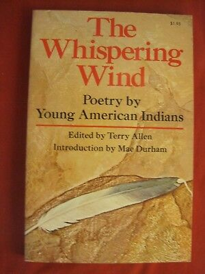 """1972 Book """"poetry By Young American Indians"""" Edited By Terry Allen"""