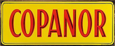 Giant old French steel enamel road street sign notice Copanor Mining Company