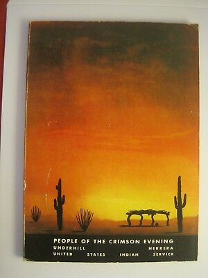 """1951 """"people Of The Crimson Evening"""" United States Indian Service Book"""