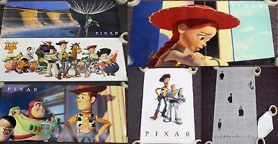 Lot 5 Pixar Shareholder Toy Story Bugs Life Posters Steve Jobs 10th Anniversary
