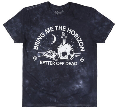 Bring Me The Horizon Better Off Dead T-Shirt Tie Dye Bmth Rock Music Tee Navy