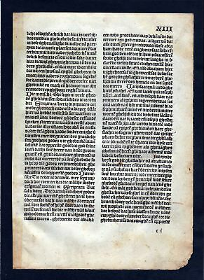 1499 Blatt XIII Inkunabel Vita Christi Zwolle incunable Dutch Holland