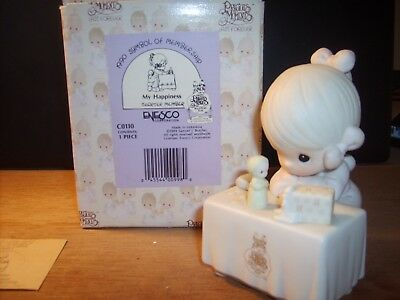 CHARTER MEMBERS ONLY figurine from 1990 My Happiness Girl with figurine # C-0110