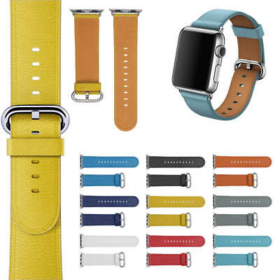 Leather Strap Watchband Bracelet Wrist Band For iWatch Apple Watch Series 3/2/1