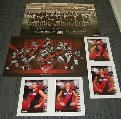 Essendon Bombers James Hird Hand Signed Anzac Legacy Lives On Official Afl Print