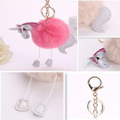 Unique Faux Rabbit Hair Bulb Bag Car Ornaments Keychain Fur Ball Keyring D