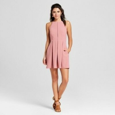 NEW Women's Pleated Dress - Lots of Love by Speechless (Juniors') Dark Rose L