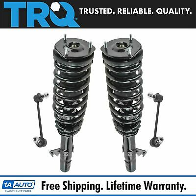 4 Piece Suspension Kit Complete Strut & Spring Assemblies Sway Bar End Links New