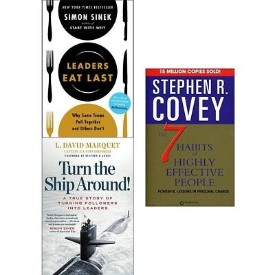 Leaders Eat Last The 7 Habits of Highly Effective 3 books collection set NEW