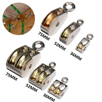 Swivel Fixed Pulley Metal Lift Hoist Rope Hanging Lifting Wheel Sheave Rigging