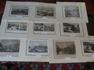 Lot 10 Stiche-Prints-Amerika-America-USA-United States-New York-No.1578