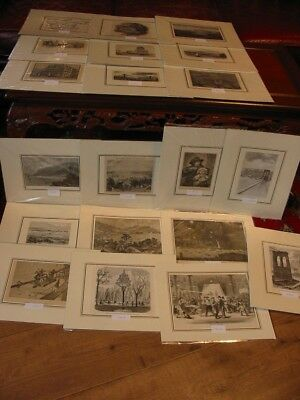 Lot 20 Stück-Stiche-Prints-Amerika-America-USA-United States-New York-No286