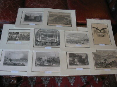 Lot 10 Stiche-Prints-Amerika-America-USA-United States-New York-No.1579
