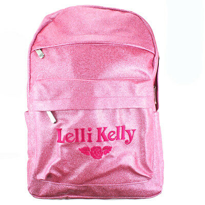 Lelli Kelly LK8297 (AN01) Pink Sparkly Glitter School Rucksack Backpack Bag