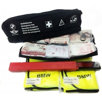 BMW & MINI New Genuine Emergency Travel Kit Bag with First Aid Kit 82262210667