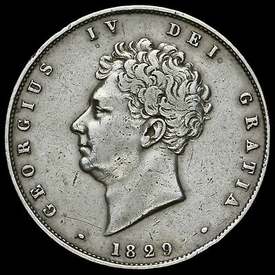 1829 George IV Milled Silver Half Crown