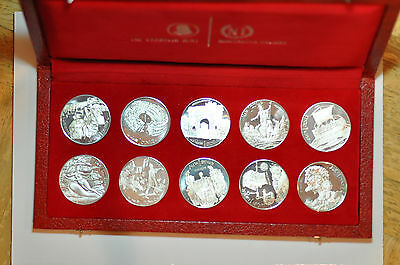 mw7455 Tunisia; 10 Silver Crowns - Dinar  Set 1969 with the Box & COA  -  PROOF