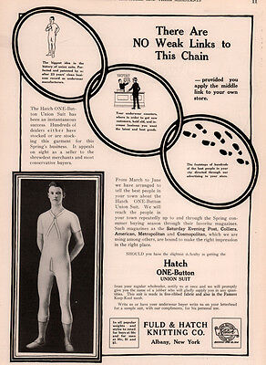 1915 Ad  Nazareth Waist Co Children Fuld Hatch Knitting Co Union Suit