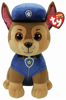 """Ty PAW Patrol Chase 16""""Tall  Large Ty Beanie."""