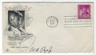 1948 Will Rogers, Jr. - Autograph On Will Rogers F.d.c.