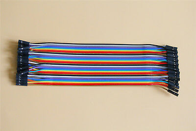 20CM Female to Female Dupont Wire Cables Line Jumper Connector A Row of 40Roots