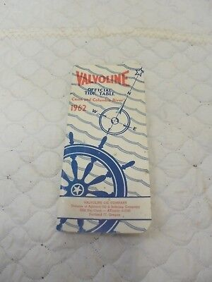 small booklet valvoline official tide table coast & columbia river 1982 portland