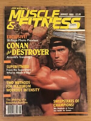 Muscle And Fitness Bodybuilding Magazine Aug 1984 Arnold Schwarzenegger