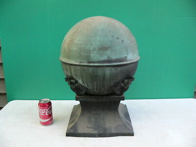 Antique 19th C Verdigris Copper Architectural Salvage Cupola Roof Topper Finial