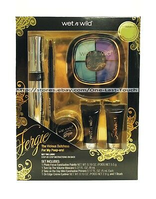 WET N WILD* 6pc Set FERGIE Eye Makeup THE DEMURE DUTCHESS Eyeshadow+Liner NEW!
